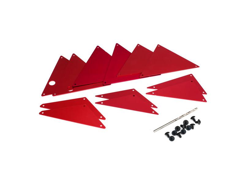 Traxxas hliníkové vnitřní panely šasi červené, Traxxas 8434R, TRA8434R