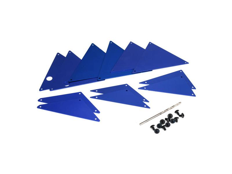 Traxxas hliníkové vnitřní panely šasi modré, Traxxas 8434X, TRA8434X