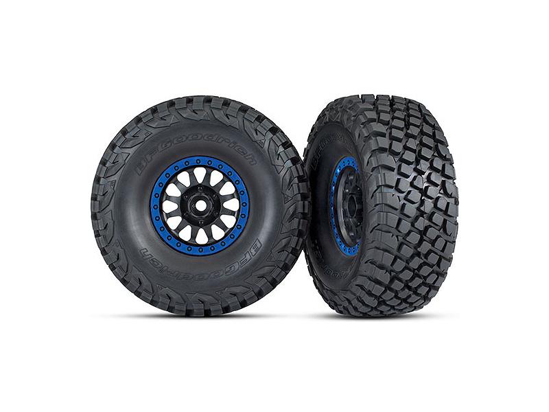 "Traxxas kolo 3.2/2.2"", disk Method Racing modrý, pneu Baja KR3 (2), TRA8474X"