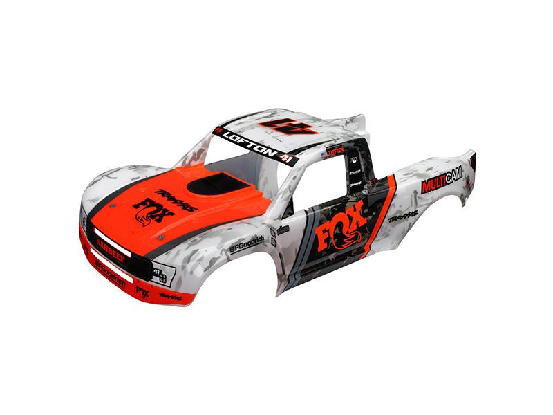 Traxxas karosérie Desert Racer Fox nabarvená, samolepky, TRA8513
