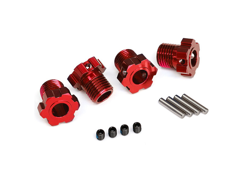 Traxxas náboj kola hliníkový červený 17mm (4), Traxxas 8654R , TRA8654R