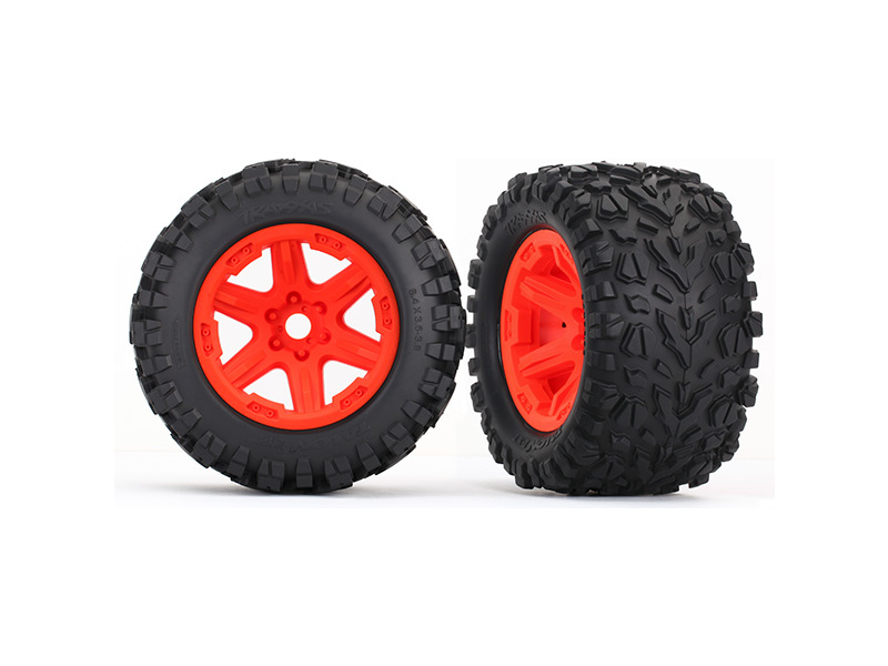 "Traxxas kolo 3.8"" oranžové, pneu Talon EXT s vložkou (2), Traxxas 8672A , TRA8672A"