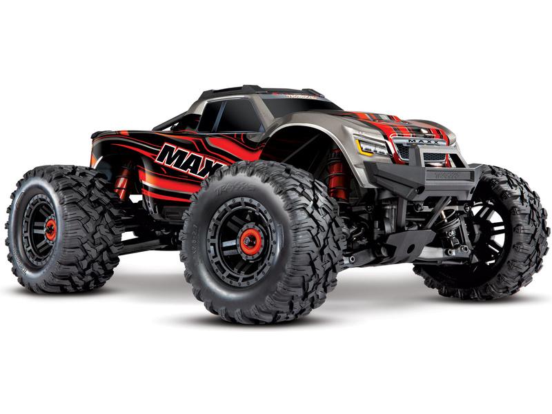 Traxxas Maxx 1:8 4WD TQi RTR červený Classic