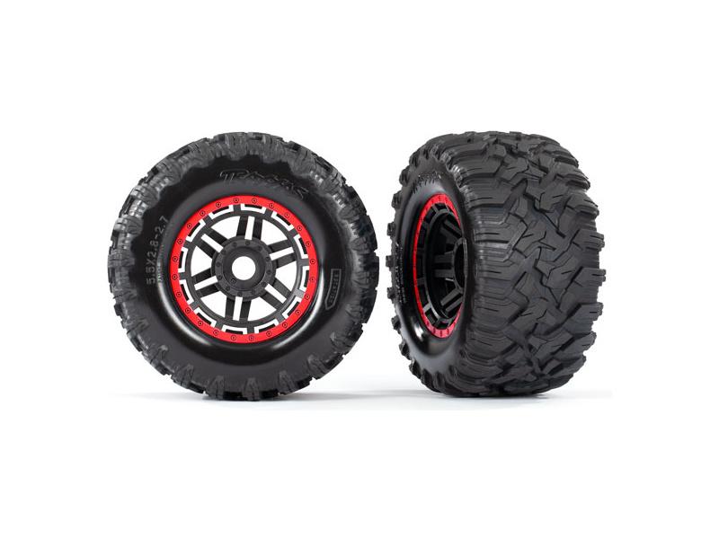 """Traxxas kolo 2.8"""", pneu Maxx All-Terrain, disk černo-červený (2)"""