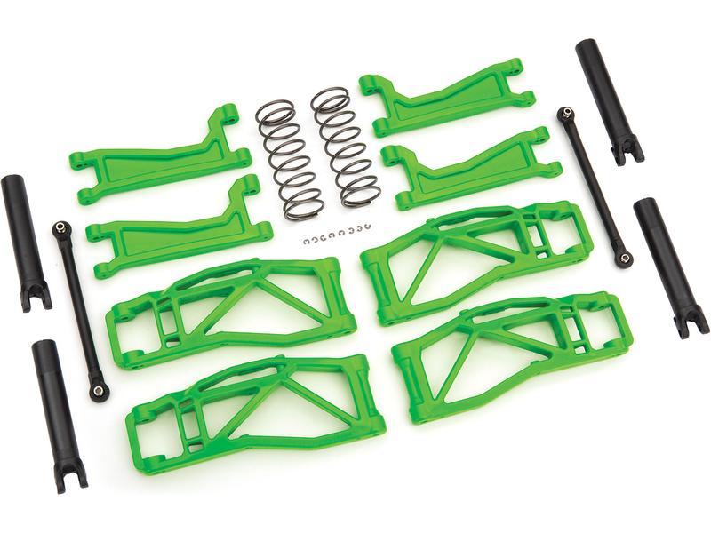Traxxas sada závěsu kol zelená (pro WideMaxx), Traxxas 8995G, TRA8995G