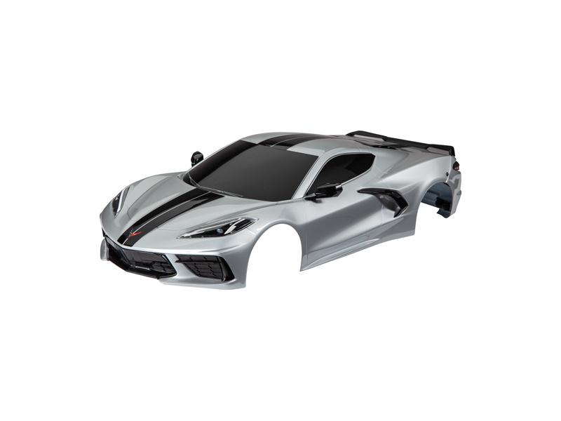 Traxxas karosérie Chevrolet Corvette Stingray stříbrná, TRA9311T