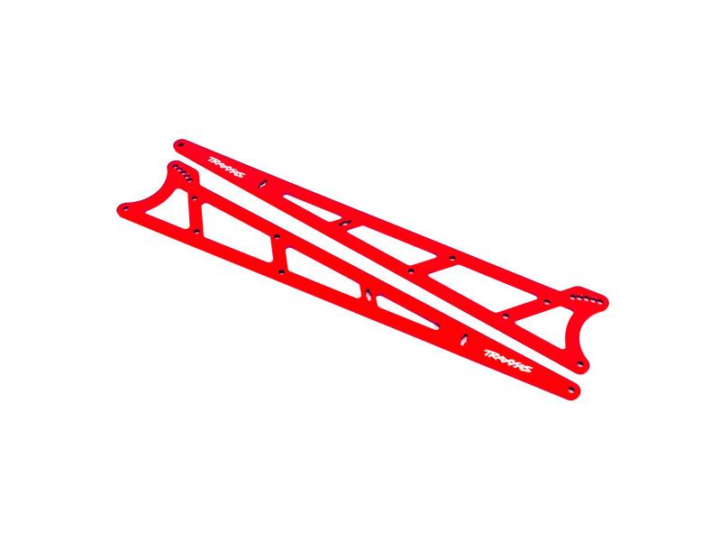 Traxxas boční rám wheelie červený (2), TRA9462R