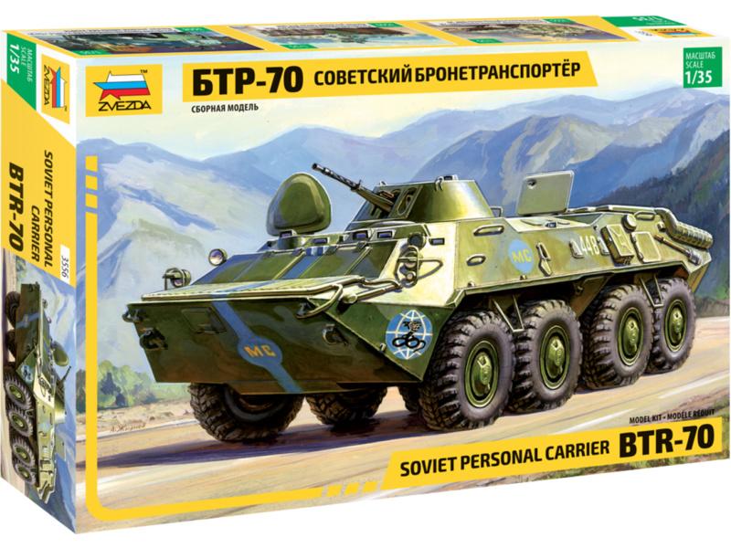 Zvezda BTR-70 Soviet APC (re-edice) (1:35)