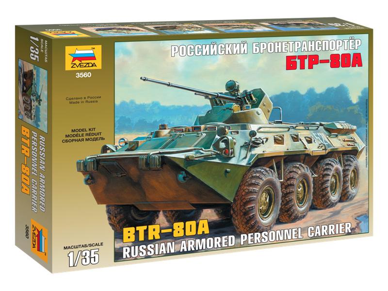 Zvezda ruské obrněné vozidlo BTR-80A (1:35)