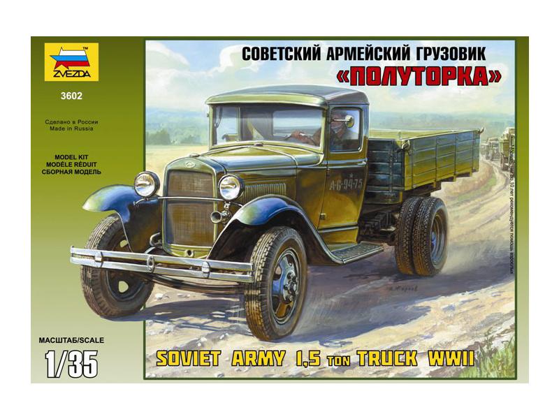 Zvezda sovětský náklaďák GAZ-AA (1:35)