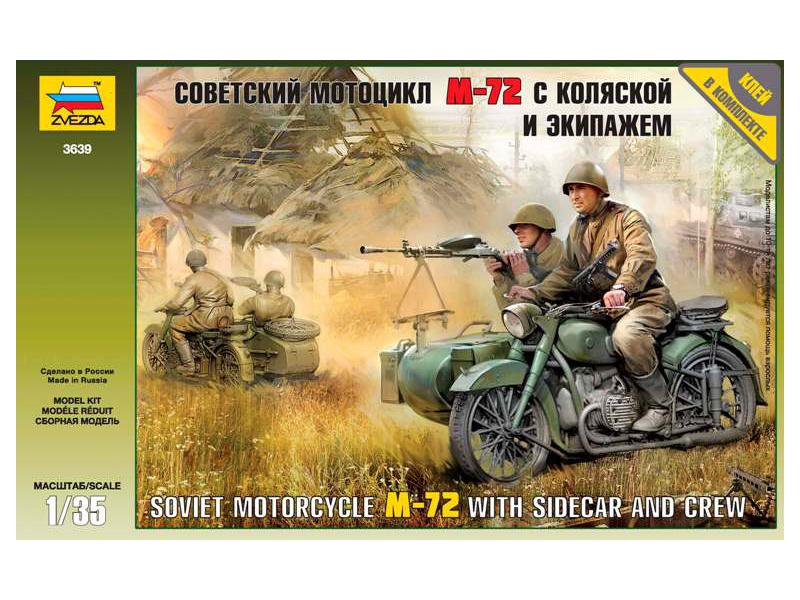 Zvezda sovětský motocykl M-72 s figurkami (1:35)
