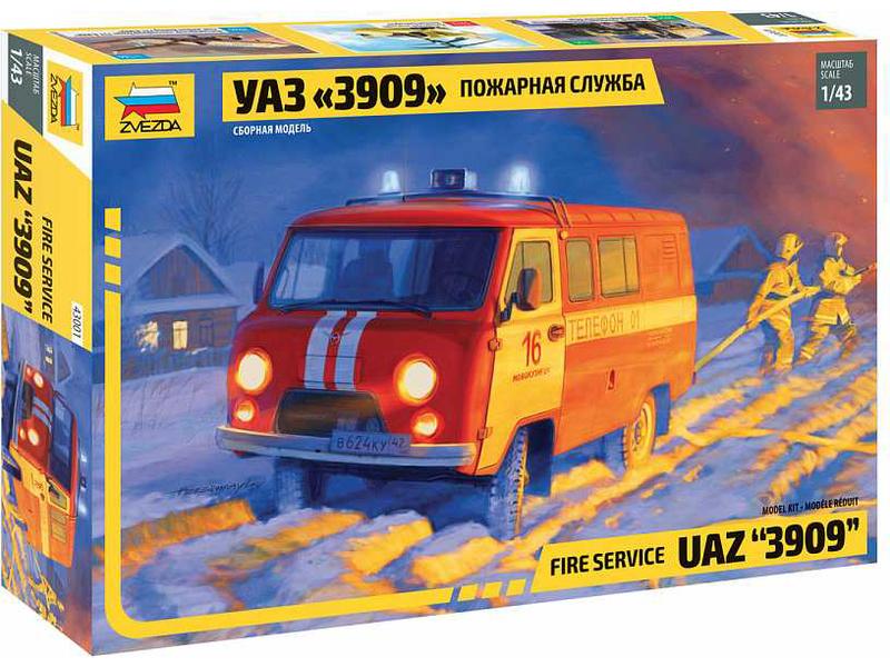 Zvezda UAZ 3909 Fire Service (1:43)
