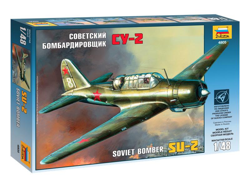 Zvezda sovětský lehký bombardér SU-2 (1:48)
