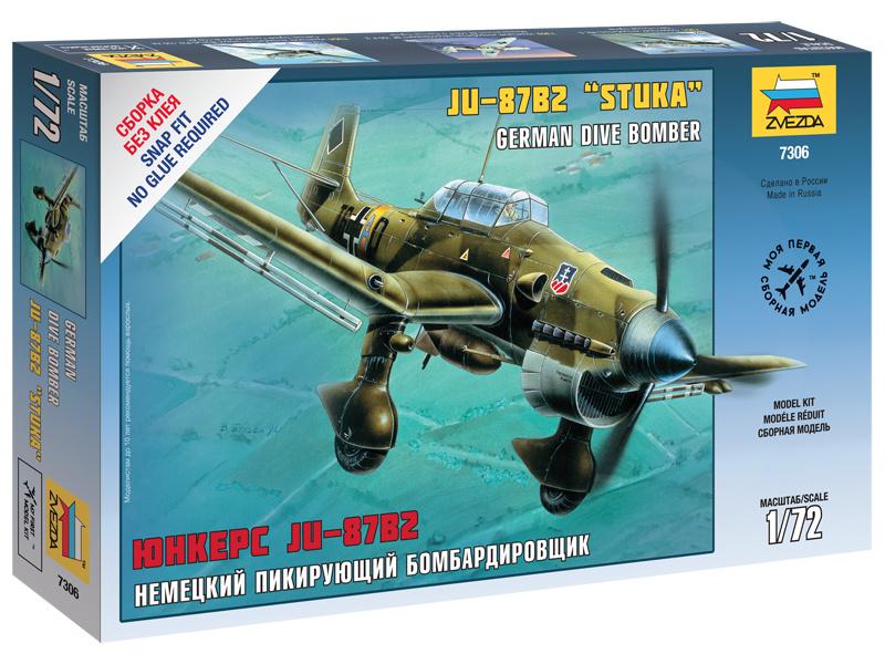 Zvezda Snap Kit - Junkers Ju-87B2 Stuka (1:72)