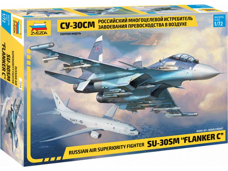 """Zvezda Suchoj SU-30 SM """"Flanker C"""" (1:72)"""