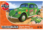 Airfix Quick Build Volkswagen Beetle Flower-Power