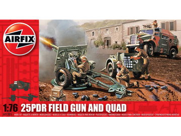 Airfix military 25pdr Field Gun and Quad (1:76) / AF-A01305
