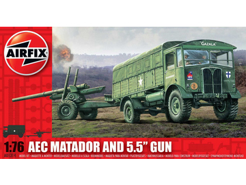 "Airfix military AEC Matador and 5.5"" Gun (1:76) / AF-A01314"