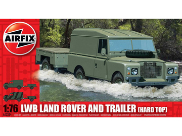 Airfix military LWB Land Rover Hard Top and Trailer (1:76) / AF-A02324