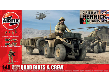 Airfix figurky - British Quad Bikes and Crew (1:48) / AF-A04701