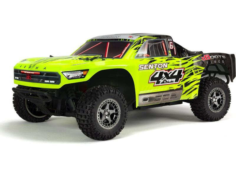 Náhľad produktu - 1:10 Arrma Senton 3S BLX 4WD RTR (zelená)