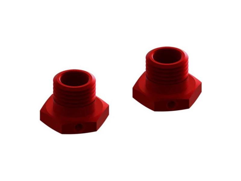 Arrma šestihran kola 17mm 14.6mm hliník, červený (2)