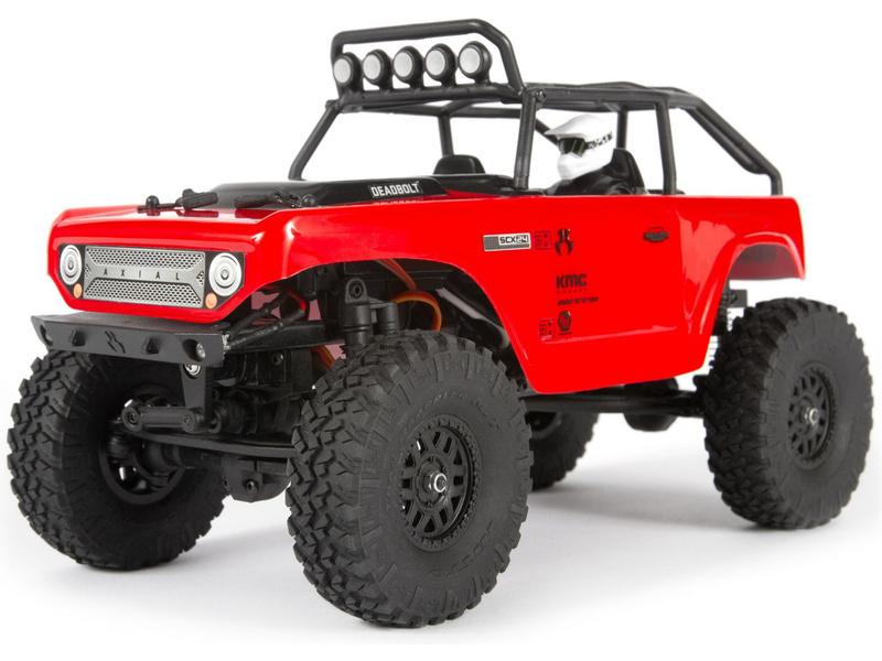 1:24 Axial SCX24 Deadbolt 4WD RTR (červený)