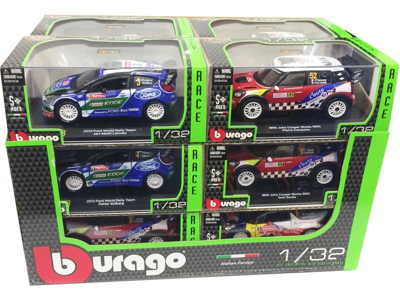 Bburago auta Rally 1:32 (sada 12ks)