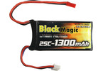 Black Magic LiPol 7.4V 1300mAh 25C JST