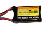 Black Magic LiPol 7.4V 450mAh 50C JST