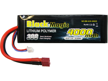 Black Magic LiPol Car 7.4V 4000mAh 30C Deans / BMA30-4000-2D