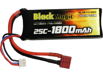 LiPol Black Magic 7.4V 1800mAh 25C Deans / BMF25-1800-2D