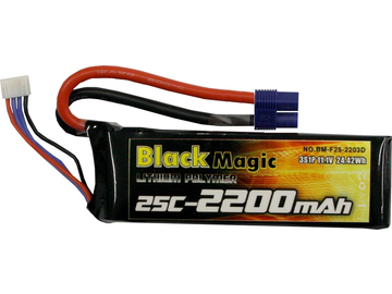 Black Magic LiPol 11.1V 2200mAh 25C EC3 / BMF25-2200-3EC3