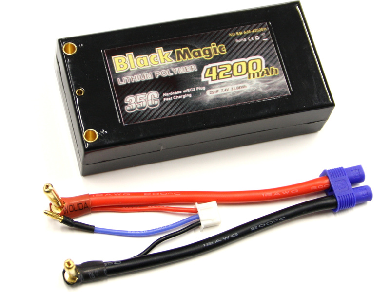 Náhled produktu - LiPol Black Magic 7.4V 4200mAh 35C EC3 96mm Ascender