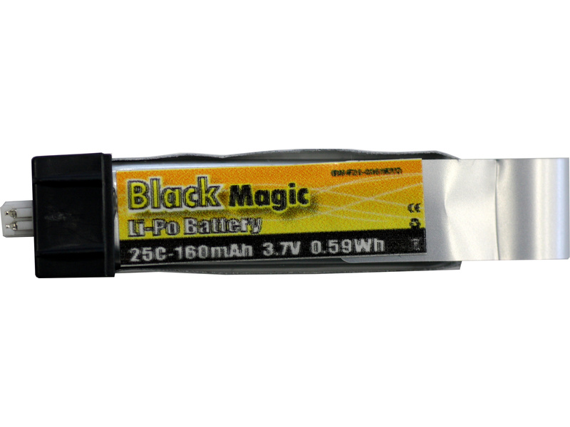 View Product - Black Magic LiPol 3.7V 160mAh 25C EFL