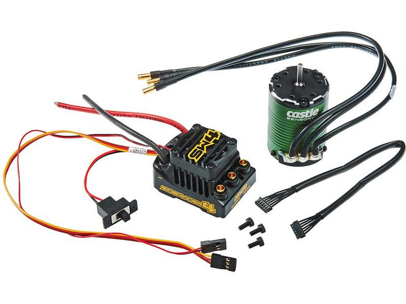 Castle Motor 1406 6900Kv senzored, ESC Sidewinder 4 (CC-010-0164-03