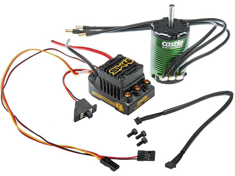 Castle Motor 1410 3800Kv senzored 5 00mm, ESC Sidewinder 4