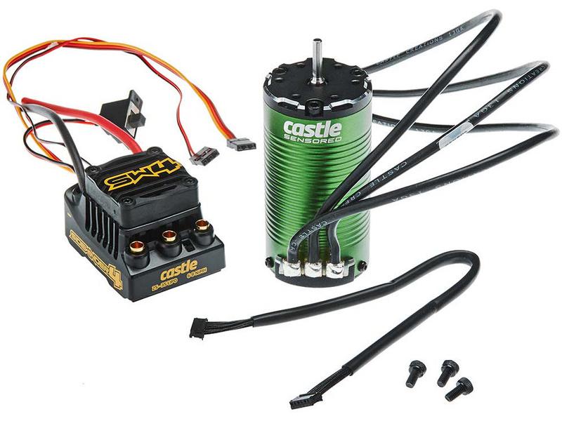 Castle Motor 1415 2400Kv Senzored, ESC Sidewinder 4 (CC-010