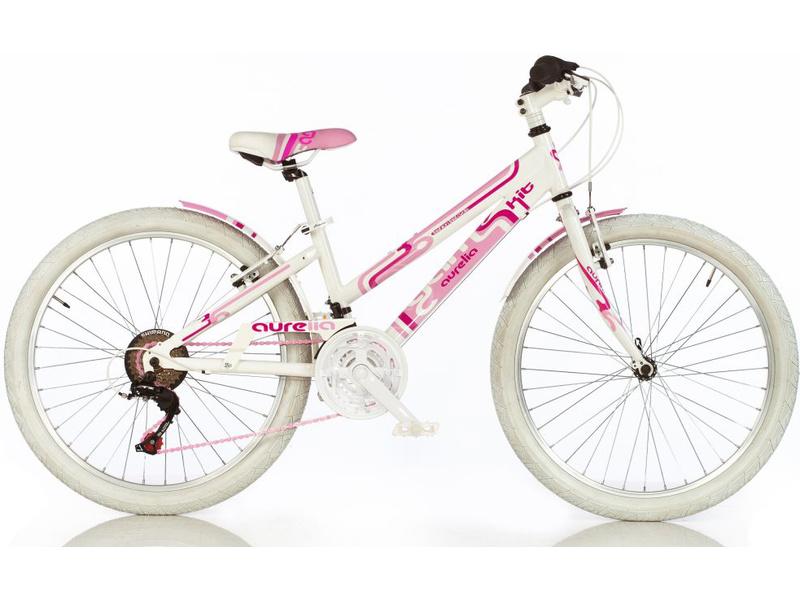DINO Bikes - Dětské kolo 24″ Aurelia Game Kit růžové