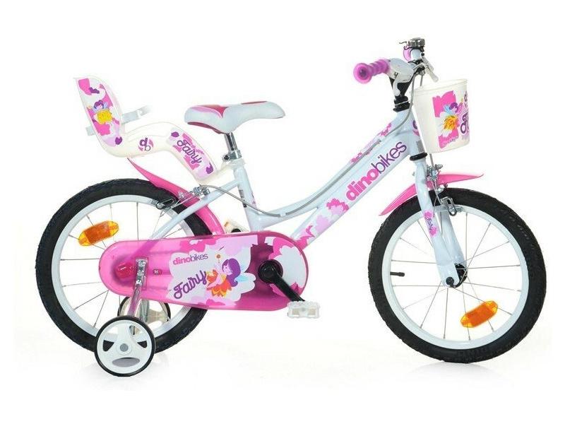DINO Bikes - Dětské kolo 16″ bílé