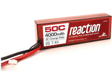 LiPol Reaction Car 7.4V 4000mAh 50C HC EC3 / DYNB3801EC
