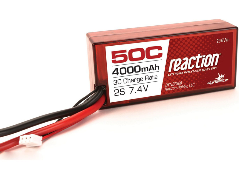 LiPol Reaction Car 7.4V 4000mAh 50C 96mm EC3 Twin Hammers