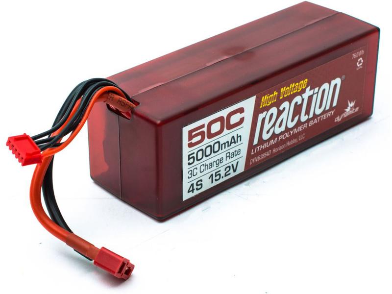 LiPol Reaction Car 15.2V HV 5000mAh 50C Deans