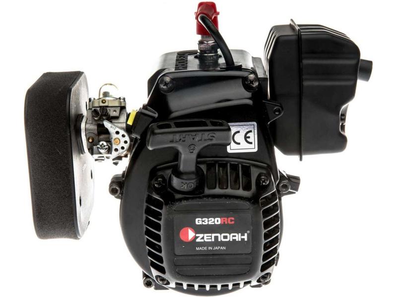 5IVE-T 2.0: Motor Zenoah G320, vzduchový filtr a spojka
