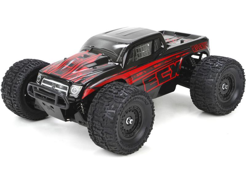 1:18 ECX Ruckus Monster Truck 4WD RTR (červený)