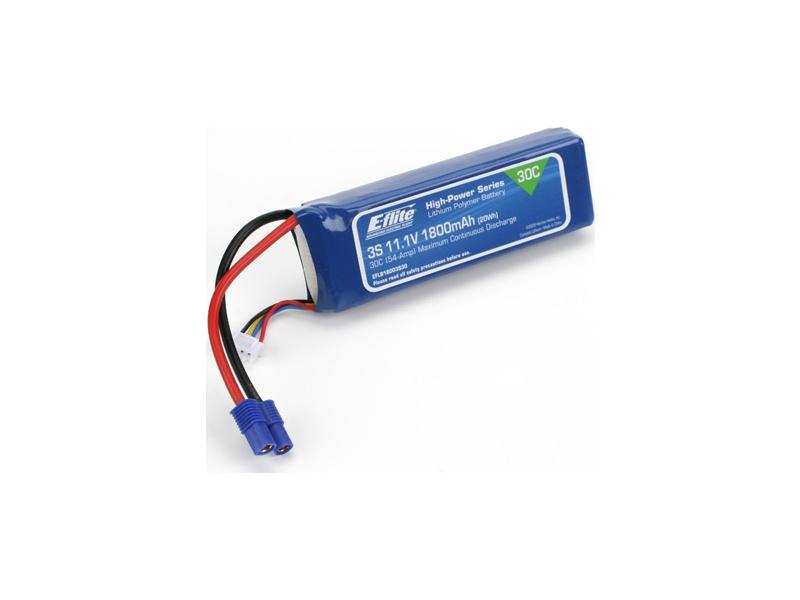 E-flite LiPol 11.1V 1800mAh 30C EC3