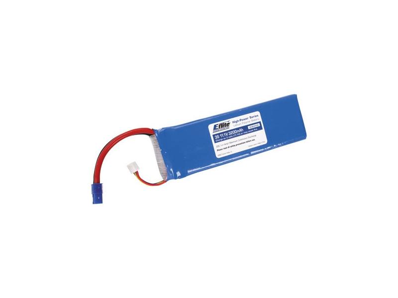 E-flite LiPo 11.1V 3200mAh 20C EC3