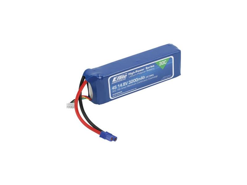 LiPol 14.8V 3200mAh 4čl 30C EC3