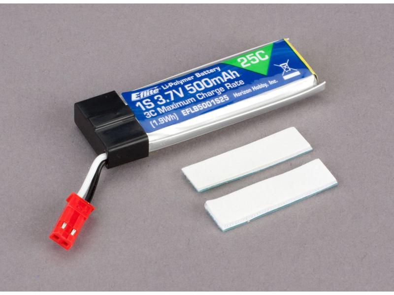 E-flite LiPol 3.7V 500mAh 25C JST