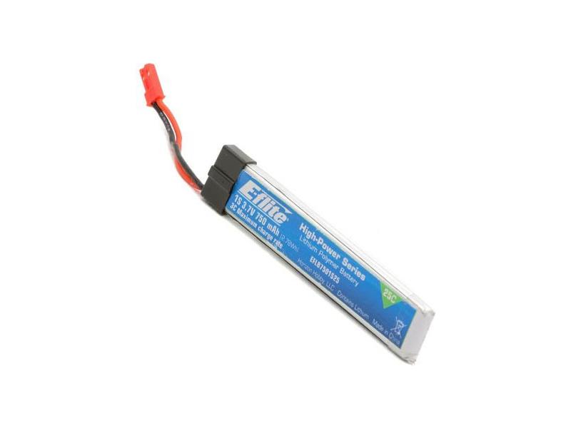 E-flite LiPo 3.7V 750mAh 25C JST